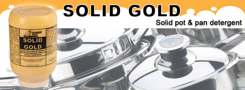 Solid Gold, solid citrus pot and pan cleaner