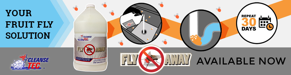 Cleanse Tec's Fruit Fly Eliminator: Fly Away Infographic